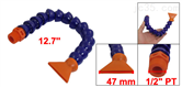 1/2 PT Thread Flat Nozzle Flexible Plastic Water Oil Coolant Pipe Hose