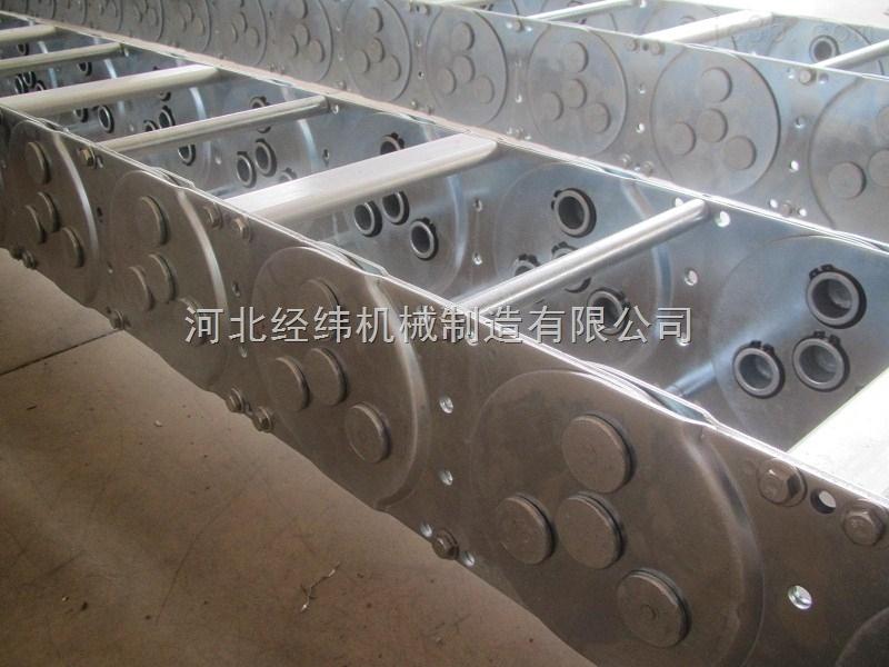 钢制拖链厂,金属穿线坦克链 链条