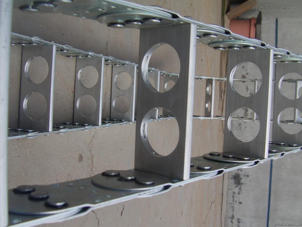 框架式支撑板机床钢铝拖链