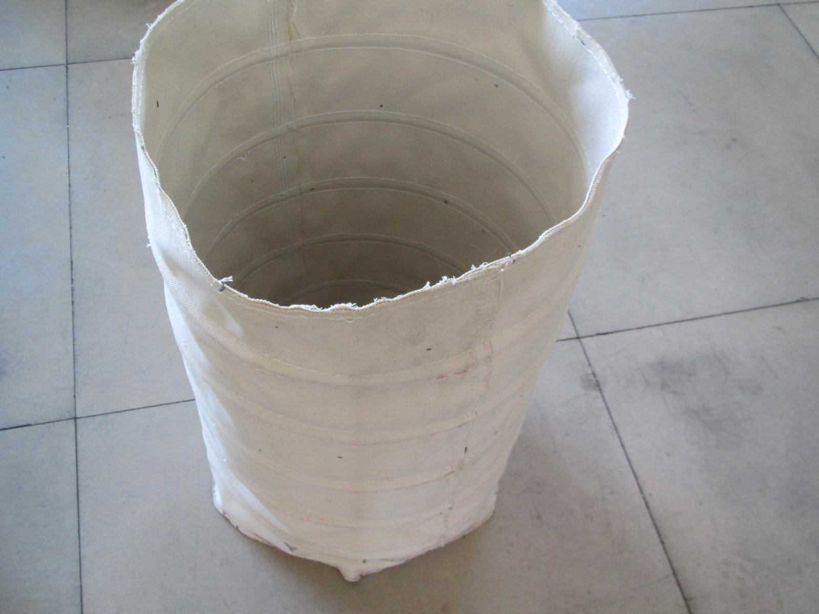 纯棉帆布卸料口水泥布袋产品图