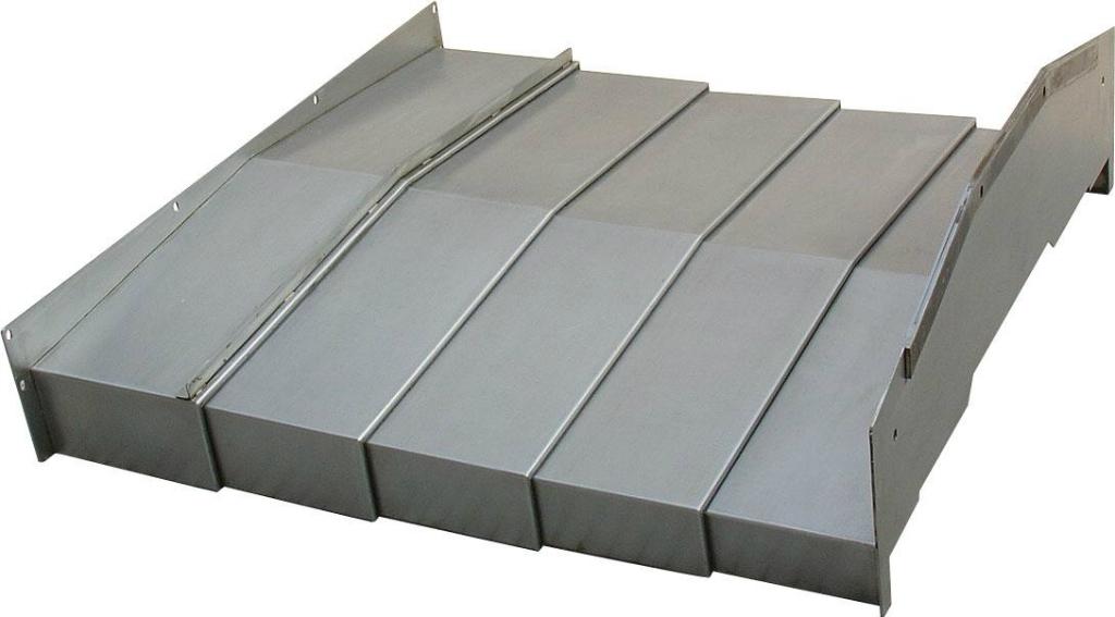 无锡磨床钢制伸缩防护罩产品图